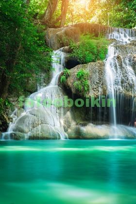 Фотообои Красивый водопад в тропиках