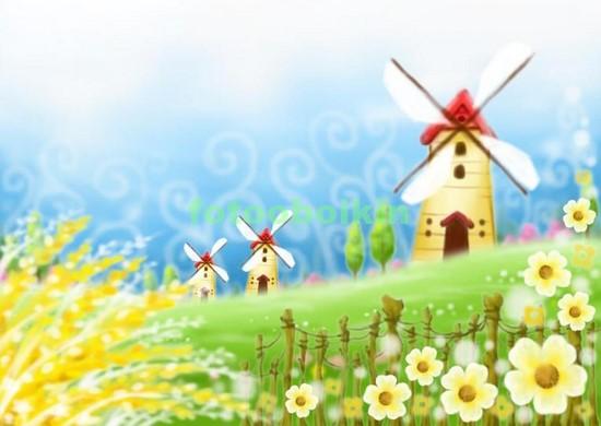 Мельницы с цветами