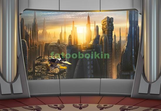 Вид на город будущего