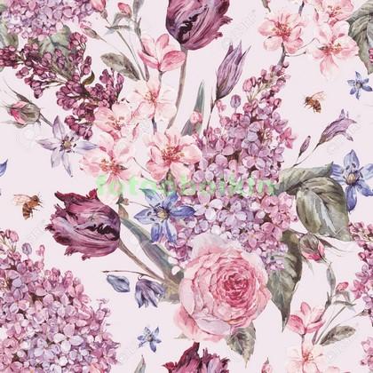 Нежно розовые цветы