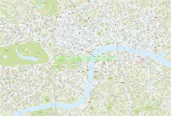 Фотообои Карта Лондона для детей