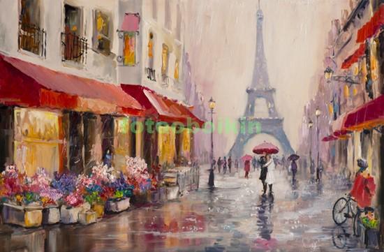 Фотообои В Париже дождь