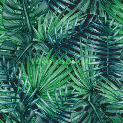 Тропическая листва узор