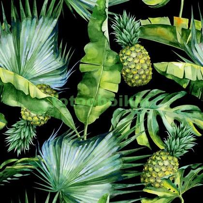 Ананасы и листья