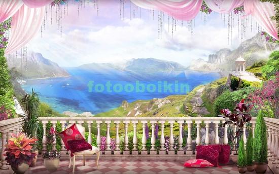 Фотообои Терраса в горах