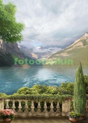 Фотообои Вид на озеро в горах