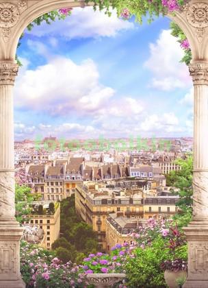 Арка с видом на город