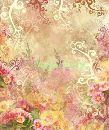 Фотообои Цветы с узором