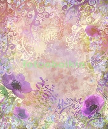 Фотообои Сиреневые цветы