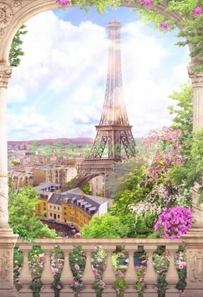 Арка с видом на Эйфелеву башню