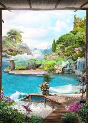 Бунгало с видом на водопад