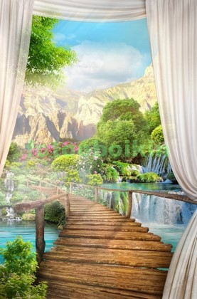 Мостик через водопад