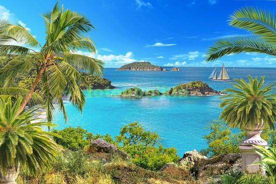Фотообои Пальмы у моря