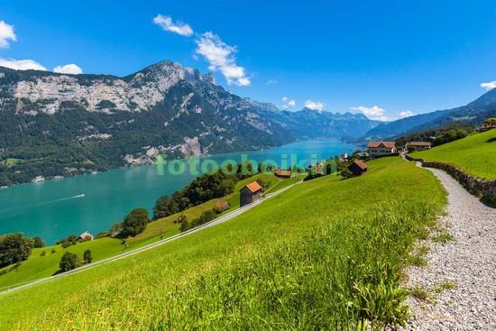 Фотообои Горы альпийские луга