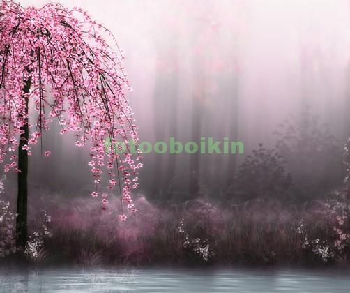 Фотообои Сакура дерево у воды