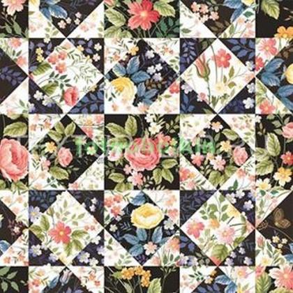 Узор цветы и ромбики