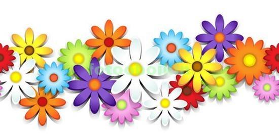 3D яркие цветы