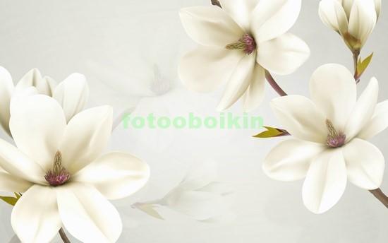 3D цветы на ветке