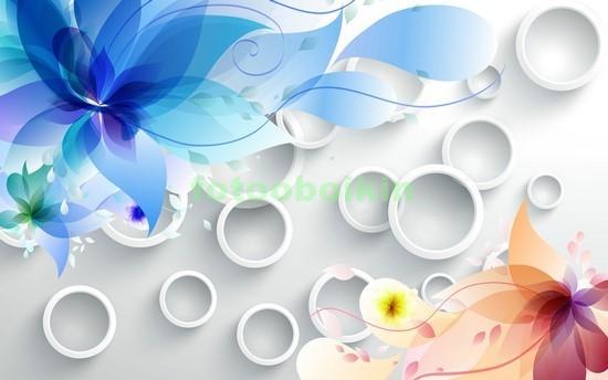 3D цветы с кругами