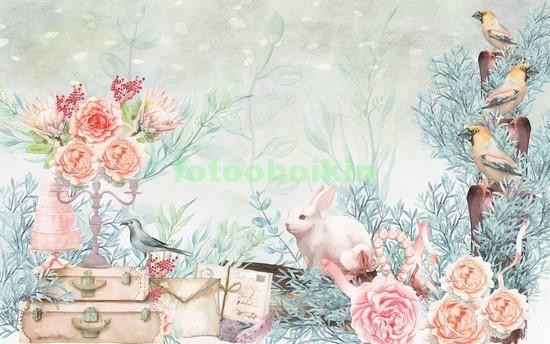 3D розовые пионы