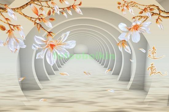 3D арка с цветами