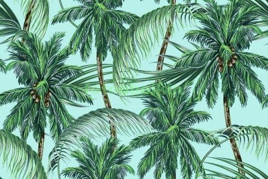 Узор с пальмами