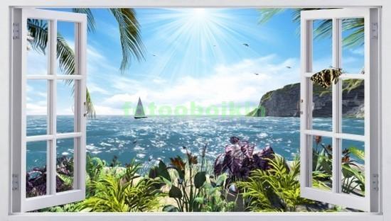 Окно с видом на море и парсуник