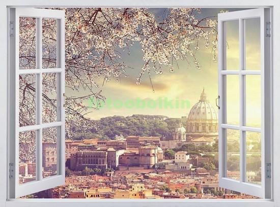 Окно с видом на Рим