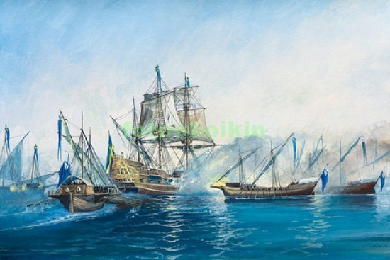 Кораблив море