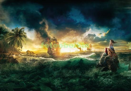 Шторм на море пиратские корабли