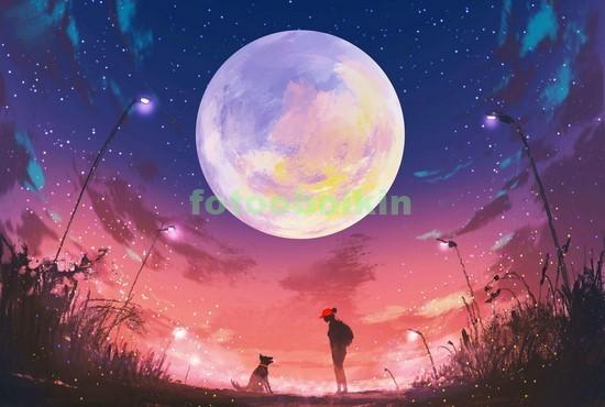 Круглая луна