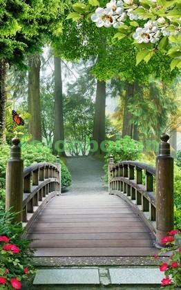Фотообои Садовый мостик