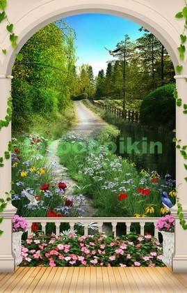 Фотообои Сад с аркой