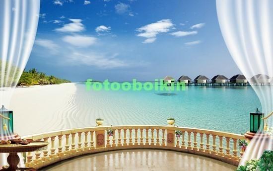Терраса с видом на море и песок