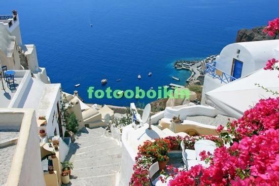 Санторини вид на море