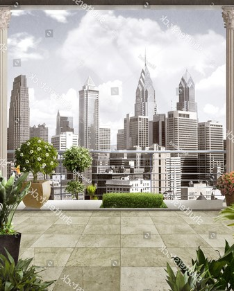 Вид из офиса на NY