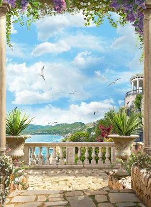 Живописный балкон