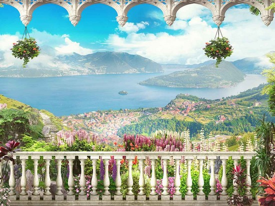 Балкон с видом на острова