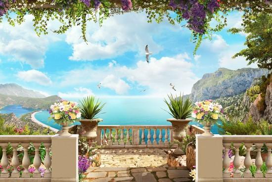 Балкон с видом на бирюзовое море