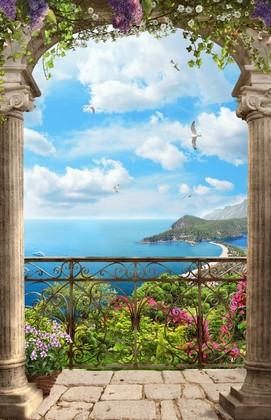 Балкон с видом на цветы