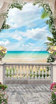 Балкон с кувшинами