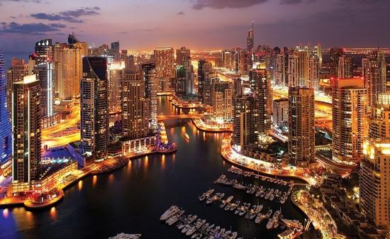 Ночной Город в Дубае