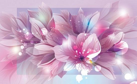 Цветы розово-фиолетовые