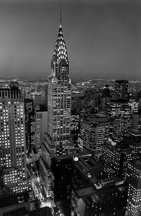 Ночной город с птичьего полета