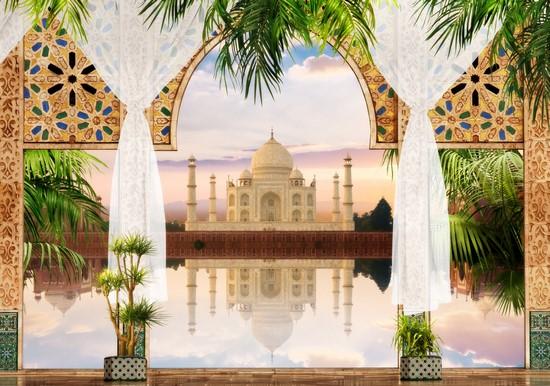 Терраса с видом на мусульманский храм