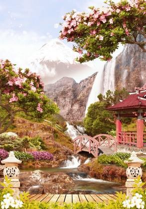 Сакура. Горы