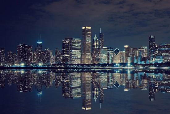 Фотообои Симметричный город