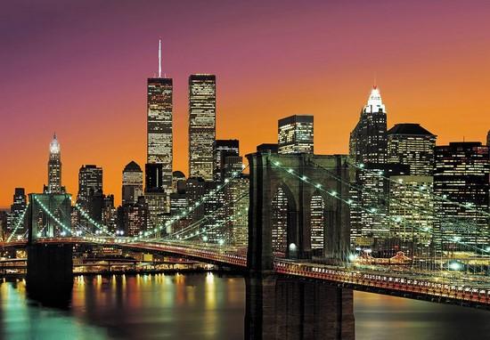 Разноцветный ночной город