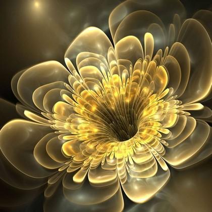 Желтый абстрактный цветок