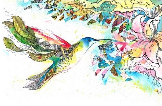 Птица и лилия